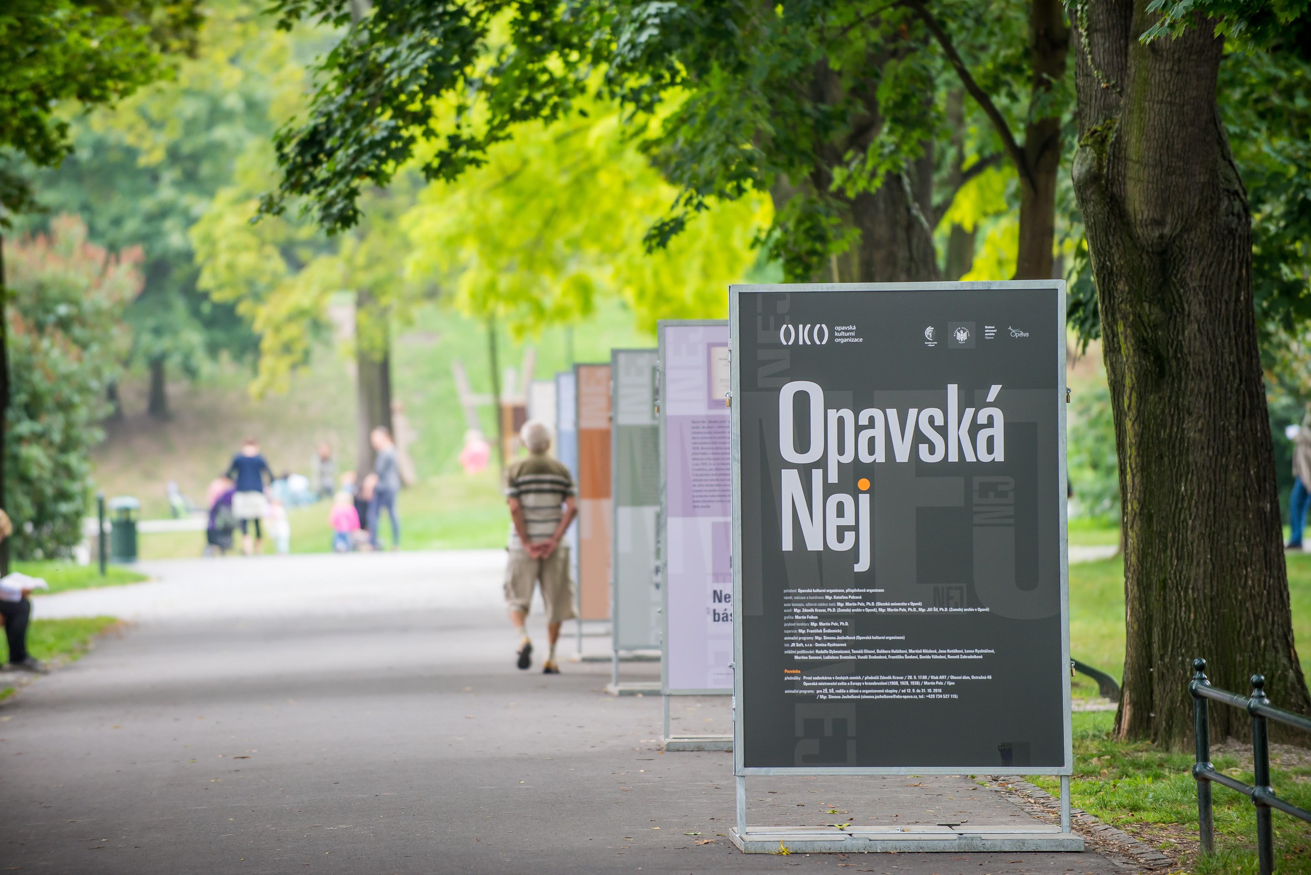 Opavská NEJ / panelová výstava v Sadech svobody / 6. 9. – 31. 10. 2016 // expozice Cesta města