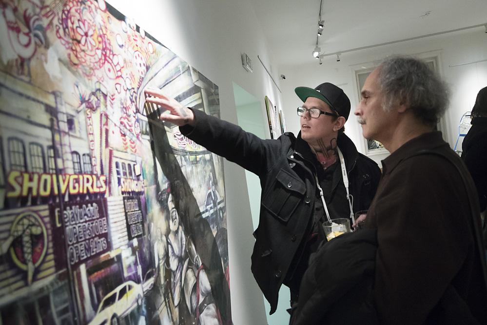 Marek Nenutil CONSERVATIVE PARTY vernisáž výstavy/ galerie Obecního dmu