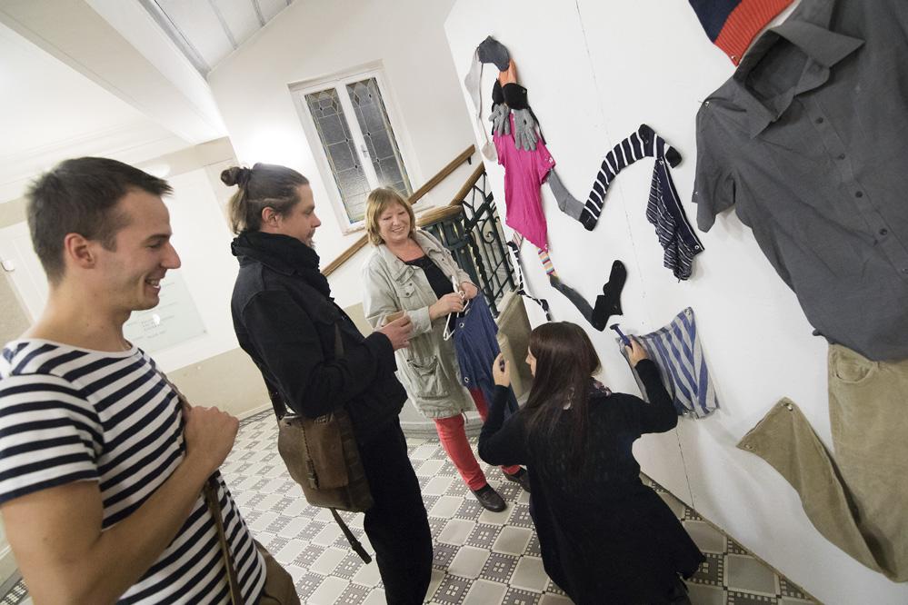 Viliam Slaminka Ideálna veľkosť vernisáž výstavy/ Galerie Obecního domu
