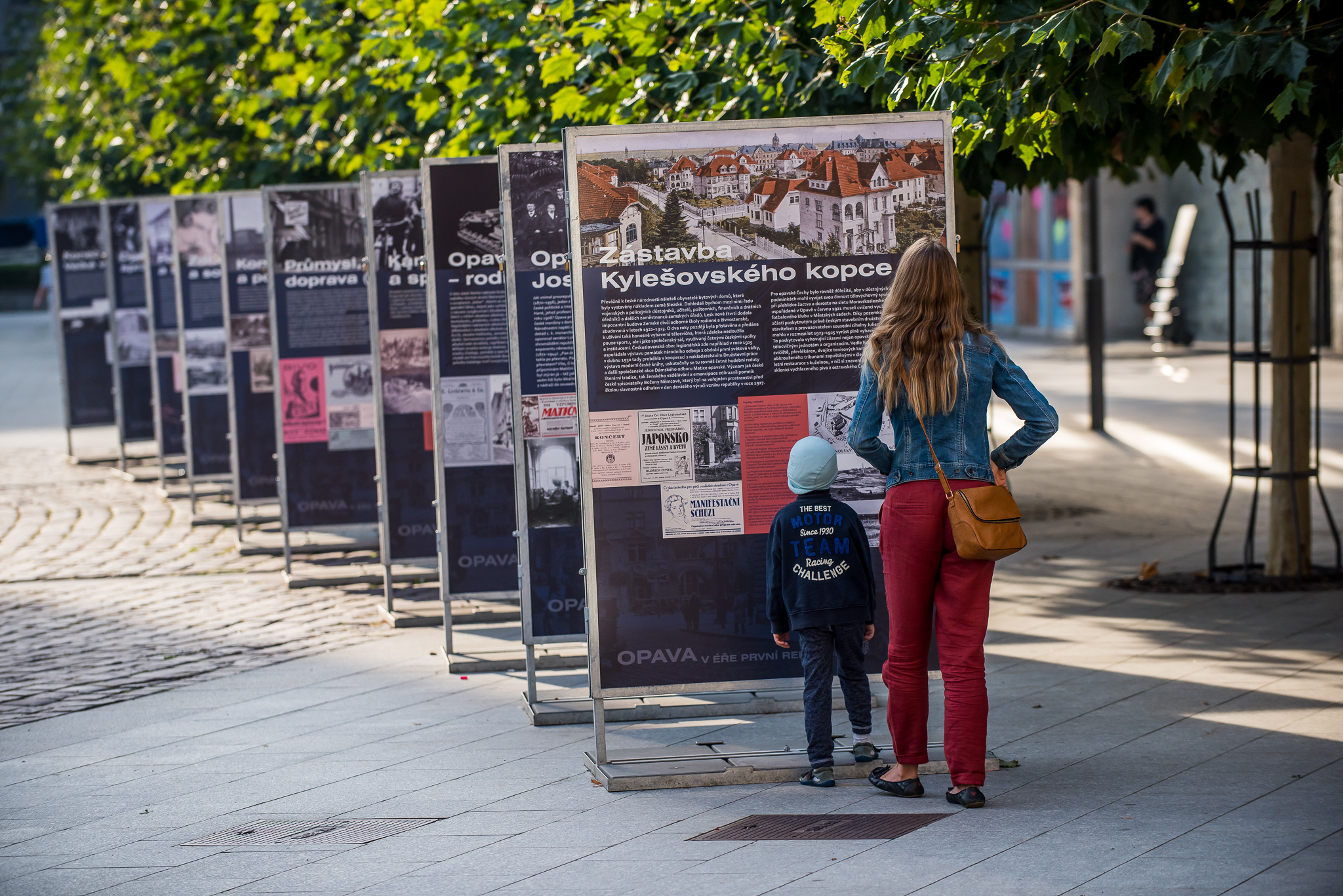 panelová výstava OPAVA V ÉŘE 1. REPUBLIKY / 6. 9. 2018 – 31.10. 2018 // Horní náměstí v Opavě