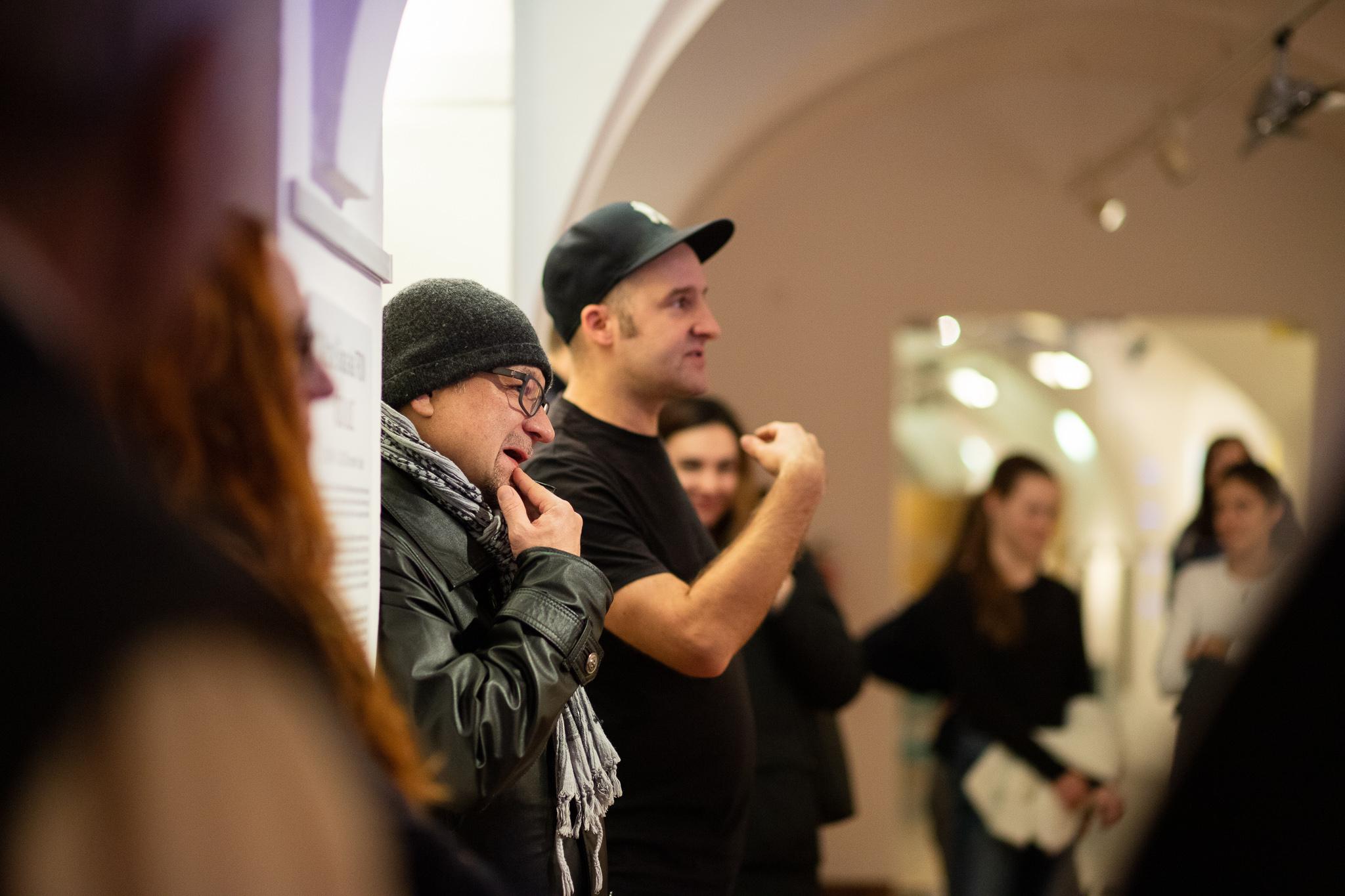 komentovaná prohlídka MICHAL ŠKAPA AKA TRON – KÓD ULIC / 10. 12. 2019 // Dům umění